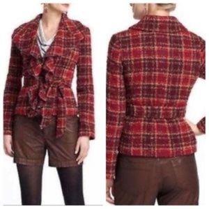 Anthro Tabitha Moretown Tweed Plaid Boucle Jacket